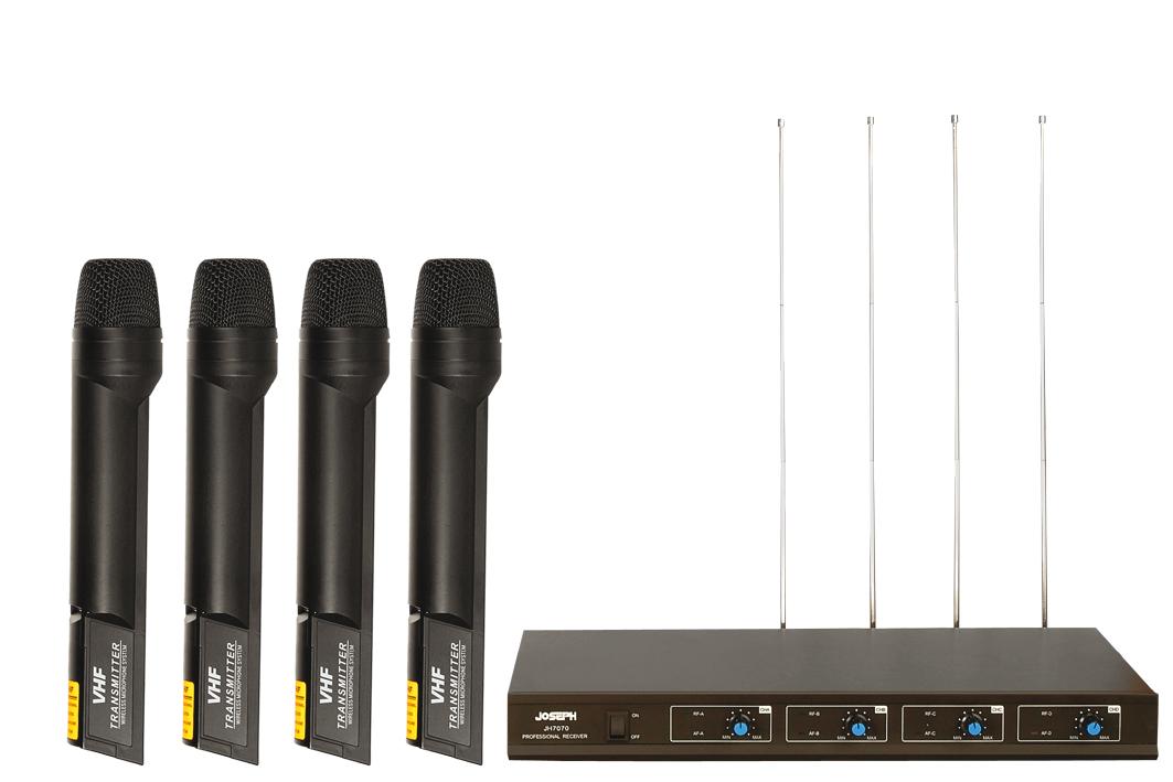 VHF 4 KANAL Kablosuz mikrofon